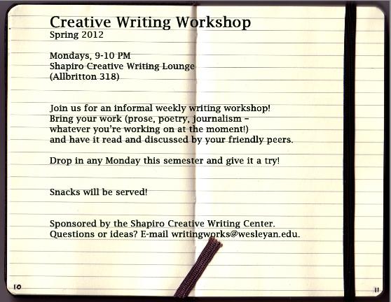 creative writing grants 2012