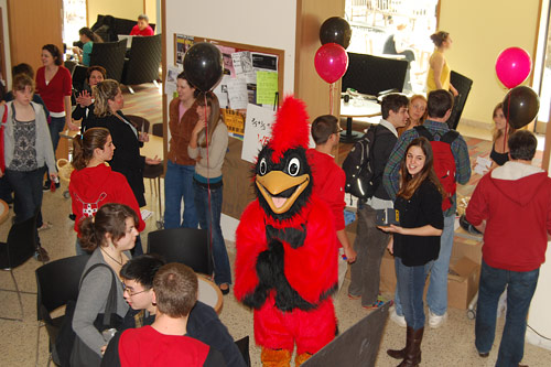 You'll meet a lot of people in your first days, maybe even the Wesleyan cardinal!